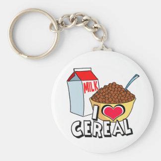 私は穀物を愛します ベーシック丸型缶キーホルダー