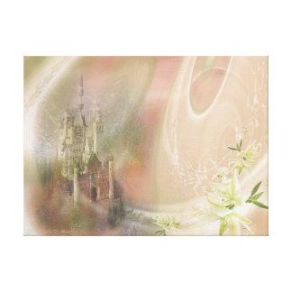 私は空の城の色で夢を見ます キャンバスプリント