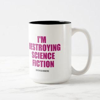 私は空想科学小説のマグを破壊しています ツートーンマグカップ