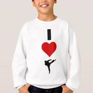 私は空手を愛します(縦) スウェットシャツ