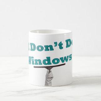 私は窓をしません コーヒーマグカップ