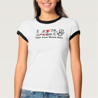 私は等級の_/先生のTouchを今日明日愛します Tシャツ