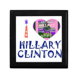 私は米国の大統領の芸術のためのHeartヒラリー・クリントンを愛します ギフトボックス
