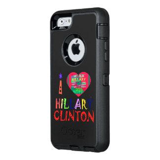 私は米国の大統領選挙のためのヒラリーを愛します オッターボックスディフェンダーiPhoneケース