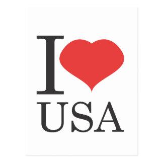 私は米国を愛します ポストカード