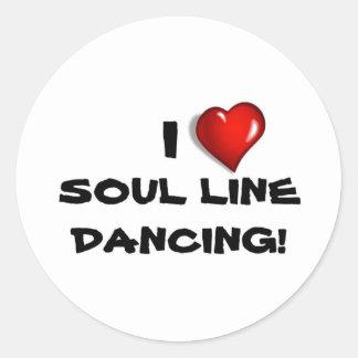 私は精神のラインダンス愛します! ラウンドシール