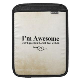 私は素晴らしいです。 それに質問しないで下さい。 ちょうどそれを取扱って下さい iPad スリーブ