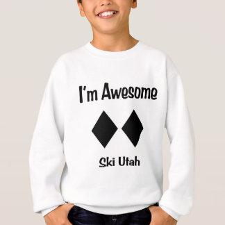 私は素晴らしいスキーユタです スウェットシャツ