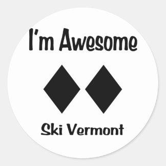 私は素晴らしいスキーヴァーモントです ラウンドシール