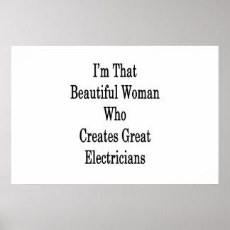 私は素晴らしいElectriを作成するその美しい女性です ポスター