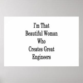 私は素晴らしいEngineeを作成するその美しい女性です ポスター