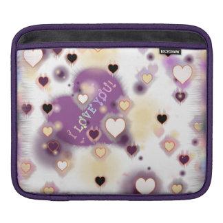私は紫色を愛します iPad 用スリーブ