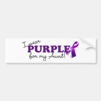 私は紫色を身に着けています バンパーステッカー