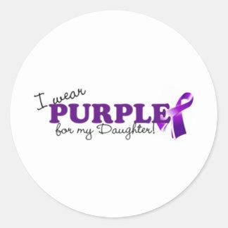 私は紫色を身に着けています ラウンドシール