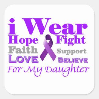 私は紫色を身に着けています-私の娘に癲癇があります スクエアシール