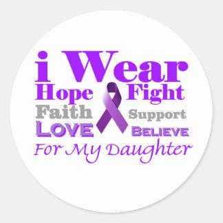 私は紫色を身に着けています-私の娘に癲癇があります ラウンドシール