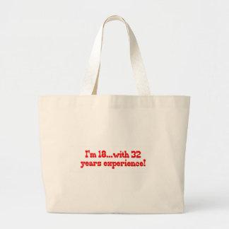 私は経験32年のとの18才です! ラージトートバッグ