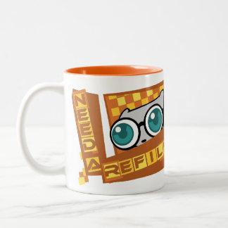 私は結め換え品を必要とします: Pilz-Eのマグ ツートーンマグカップ
