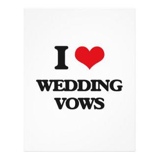 私は結婚式誓約を愛します 21.6CM X 27.9CM チラシ