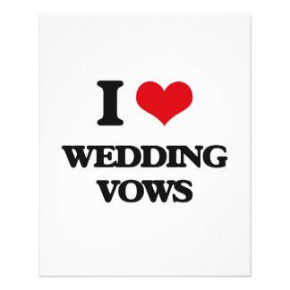 私は結婚式誓約を愛します 11.4CM X 14.2CM チラシ