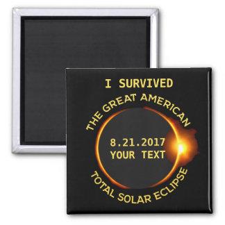 私は総日食8.21.2017米国を生き延びました マグネット