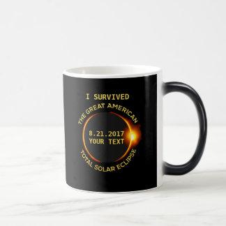 私は総日食8.21.2017米国を生き延びました マジックマグカップ