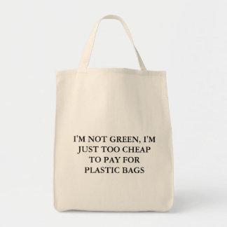 私は緑ではないです トートバッグ