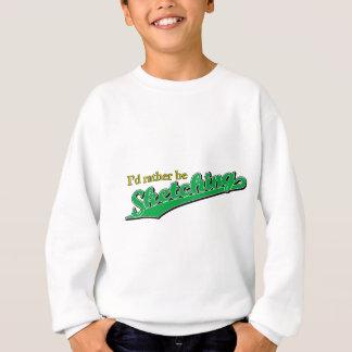 私は緑でむしろスケッチしていました スウェットシャツ