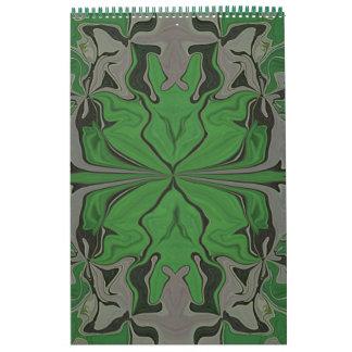 私は緑の抽象美術を愛します カレンダー
