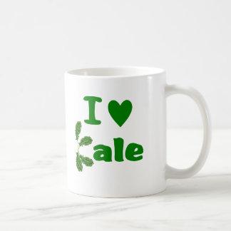 私は緑葉カンラン(Iのハートの緑葉カンラン)の野菜か庭師を愛します コーヒーマグカップ