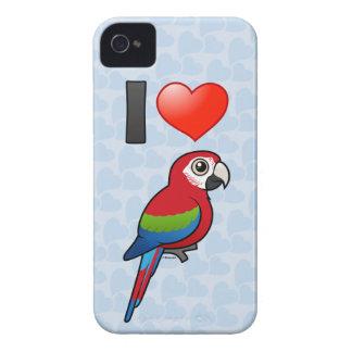 私は緑飛んだコンゴウインコを愛します Case-Mate iPhone 4 ケース