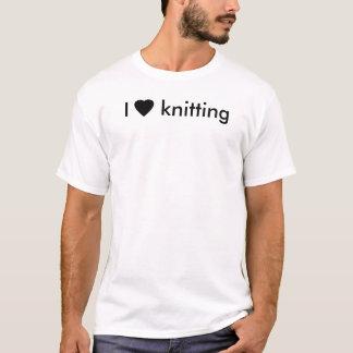 私は編むことを愛します Tシャツ