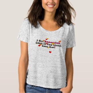 私は美しいです Tシャツ