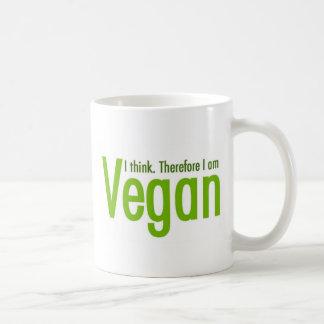 私は考えます。  従って私はビーガンです コーヒーマグカップ
