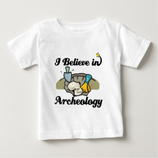 私は考古学で信じます ベビーTシャツ