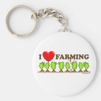 私は耕作することを愛します キーホルダー