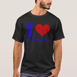 私は聴覚学者のデザインを愛します Tシャツ