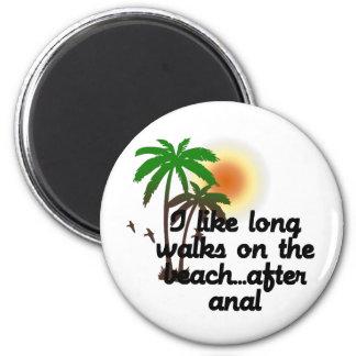 私は肛門の後でビーチの長い歩行を…好みます マグネット