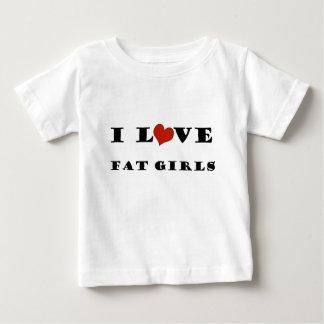 私は脂肪質の女の子を愛します ベビーTシャツ