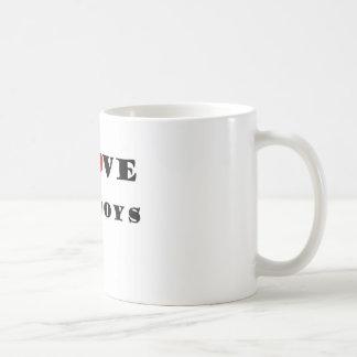 私は脂肪質の男の子を愛します コーヒーマグカップ