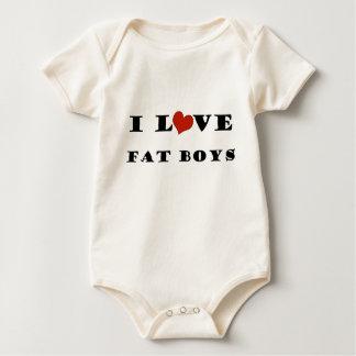 私は脂肪質の男の子を愛します ベビーボディスーツ