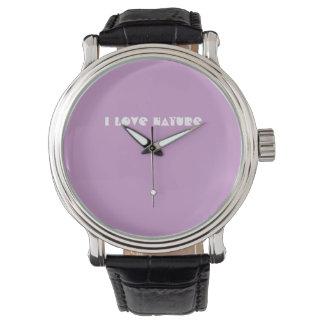 私は自然の腕時計を愛します 腕時計