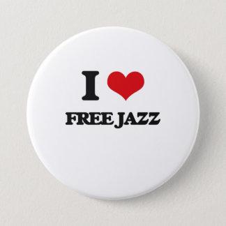 私は自由なジャズを愛します 缶バッジ