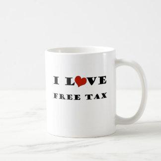 私は自由な税を愛します コーヒーマグカップ