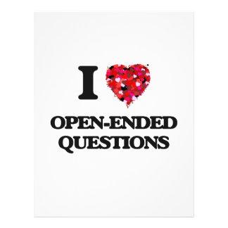 私は自由回答式質問法を愛します 21.6CM X 27.9CM チラシ