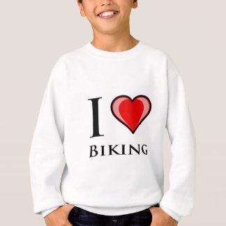 私は自転車に乗ることを愛します スウェットシャツ