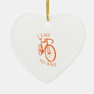 私は自転車に乗るのを好みます セラミックオーナメント