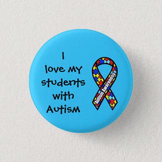 私は自閉症の私の学生を愛します 3.2CM 丸型バッジ