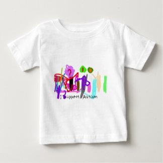 私は自閉症を支えます ベビーTシャツ