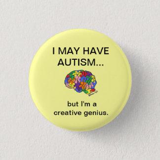 """""""私は自閉症を経験するかもしれません…"""" ボタン 3.2CM 丸型バッジ"""